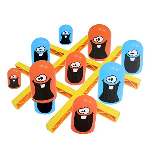 Yagerod Big Eat Small Tic-Tac-Toe Game, Stacked Cup Strategy Board Game, Parent-Child Interactive Early Education Toys, Surprise Toys for Kids
