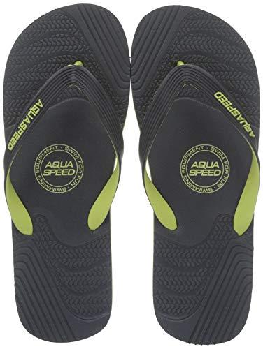 Aqua Speed Palermo Uomo Ciabatte/Scarpe (Grigio/Verde, 42)