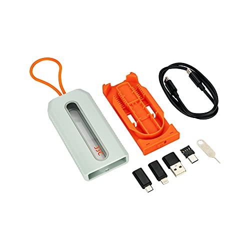 JJC Juego de 4 convertidores de Cable de Datos USB C con Estuche de Viaje, Adaptador USB C a Lightning, Adaptador USB C a Micro USB, Adaptador USB C a USB A, Adaptador OTG