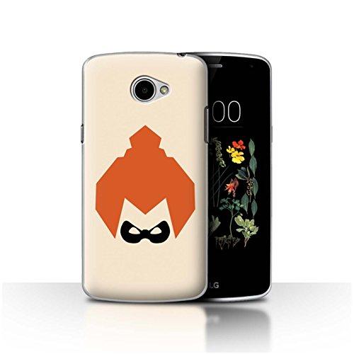 Stuff4®® - Funda para teléfono móvil/Carcasa/Carcasa/LG/CC/Dibujos Animados Super Hero Art Collection Gesichtsmaske LG K5/X220