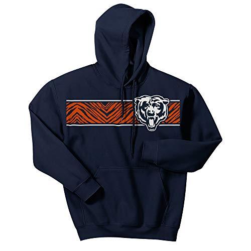 NFL Chicago Bears Men's Zebra Logo Hoodie, Navy Blue, Large