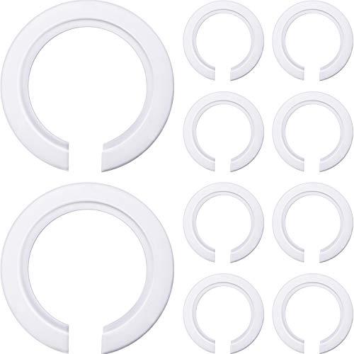 10 Packung E27 bis E14 Kunststoff Lampenschirm Ring Konverter, Lampenring Reduzierring zur Montage von Edison Schraubenlampen an Bajonettkappen