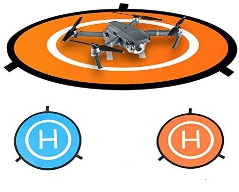 Hensych Fast-piega Landing Pad 75CM Uso doppio laterale RC Drone Launch Pad con custodia per Mavic Mini /Mavic Mini 2/Mini SE/ Air/Air 2S/ Mavic Pro/ Spark/ Phantom 2 3 4 inspire 1