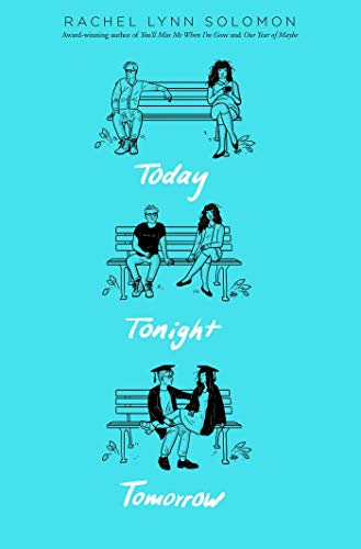 book cover today tonight tomorrow boy and girl sitting in a park bench
