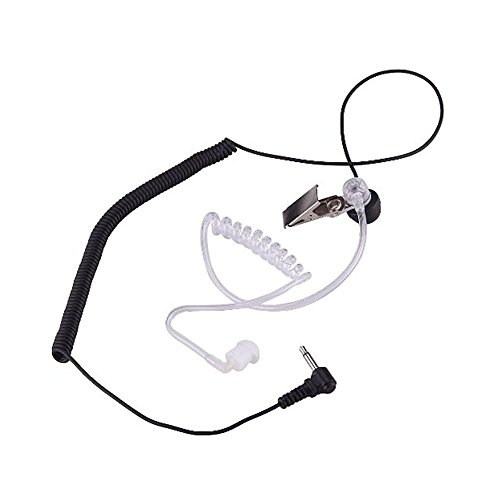 Hensych 3.5mm Listen/Receive Only Covert Acoustic Tube Earpiece Headset For...