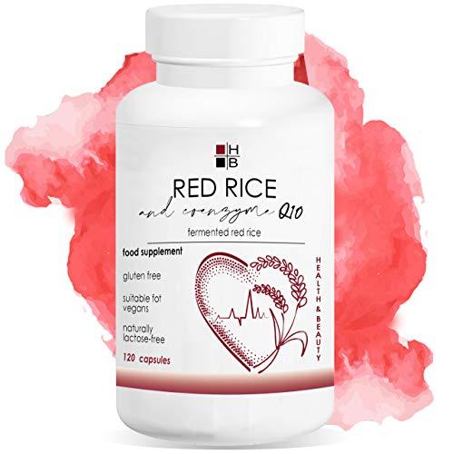 ROTER REIS und COENZYM Q10 120 Kapseln | fermentierter roter Reis | mit VITAMIN Q | Italienisches Produkt