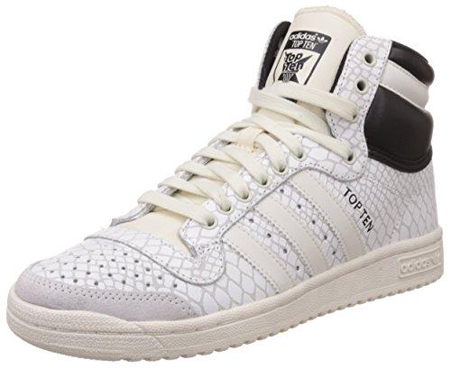 adidas Top Ten Hi, Zapatillas Altas Mujer, Blanco (Off White/Off White/Core Black), 39 1/3 EU