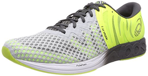 ASICS Herren Noosa FF 2 T819N-9695 Triathlonschuhe, Grau (Glacier Grey/Dark Grey/Safety Yellow 9695), 42.5 EU