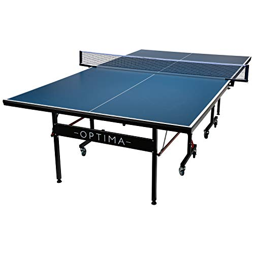 Franklin Sports Table Tennis Table – Optima Indoor Table Tennis Table - Pro Quality Folding Indoor Table - Easy Assembly and Storage - Official Size