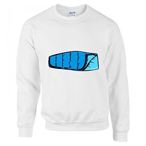 Pullover - Blau- Camping- Wohnung- Sacco A Pelo- Einfache- Schlafsack- Tourist - Sweatshirt Für Herren - Damen und Kinder