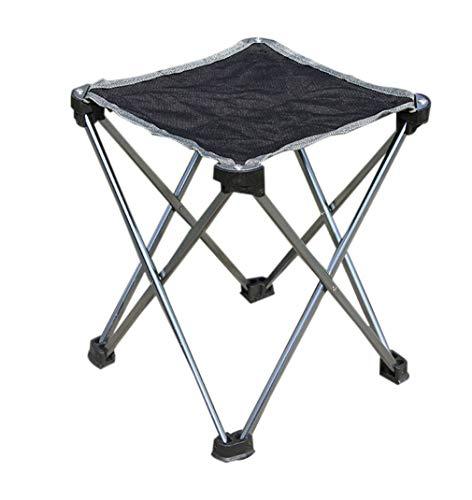 zhxinashu Mini Extérieur Chaise Pliante Portable - Pique Nique BBQ Banc Tabouret Pêche Siège(Gris)