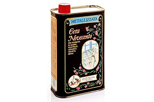 Cera Novecento X906 Cera Metallizzata, Trasparente, 1 litro