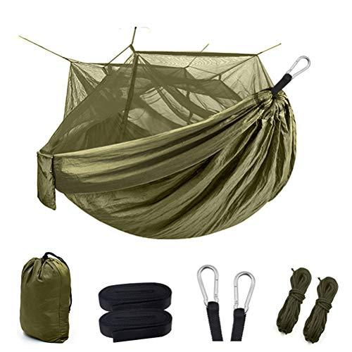N \ A Hamaca para Acampar con mosquitera, Juego de hamacas portátiles de Nailon para Exteriores para Viajes y Supervivencia en Interiores al Aire Libre, admite hasta 1-2 Personas o 440 Libras