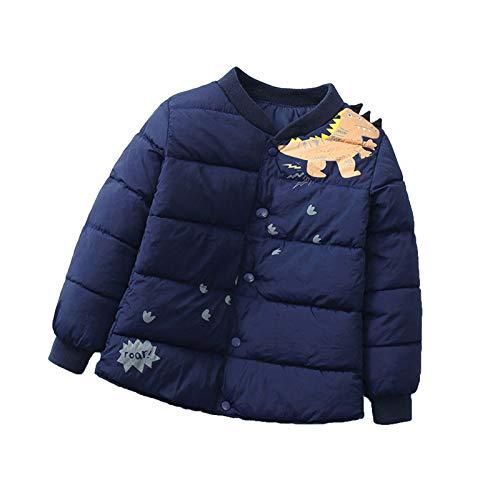 冬のコート、暖かい幼児の女の赤ちゃん漫画防風コートフード付き暖かいアウタージャケット9ヶ月-6年