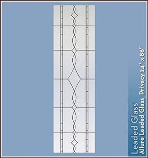 "Allure Black Leaded Glass Privacy Static Cling Window Film - 24"" x 86"""