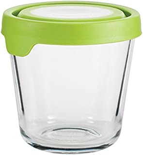 Anchor Hocking Trueseal Glass Food Storage Containers Airtight Lids, 3.5 Cup Tall, Green