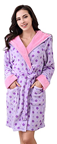 Richie House Women's Soft and Warm Bathrobe Robe with Ears RHW2498-J-M