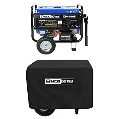 DuroMax XP4400E, 3500 Running Watts/4400 Starting Watts, Gas Powered Portable Generator with Wheel Kit
