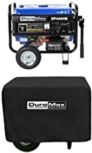 DuroMax XP4400E 4,400 Watt 7.0 HP OHV 4-Cycle Gas Powered Portable Generator With Wheel Kit And Electric Start and Cover Bundle