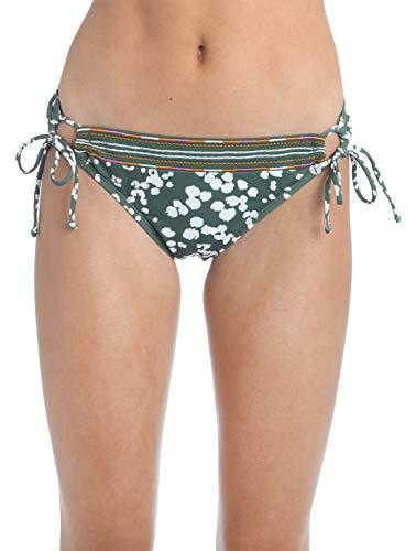 Hobie Women's Side Tie Hipster Bikini Swimsuit Bottom, Olive//On Safari, S
