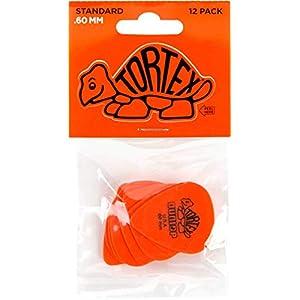 Dunlop DL P 0035 418 P.60 Tortex Standard Players Pick (12 Stück) orange