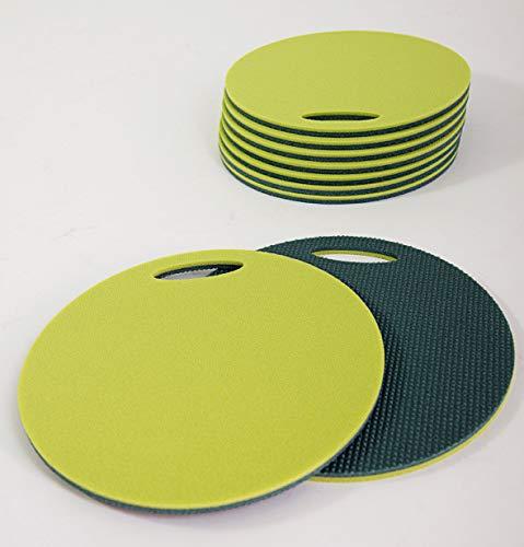 Yate Schaumstoffsitzkissen - 18 Stück in einem Set - doppelseitig - wasserdicht und schmutzabweisend - Sitzunterlagen - rund - mit Griff