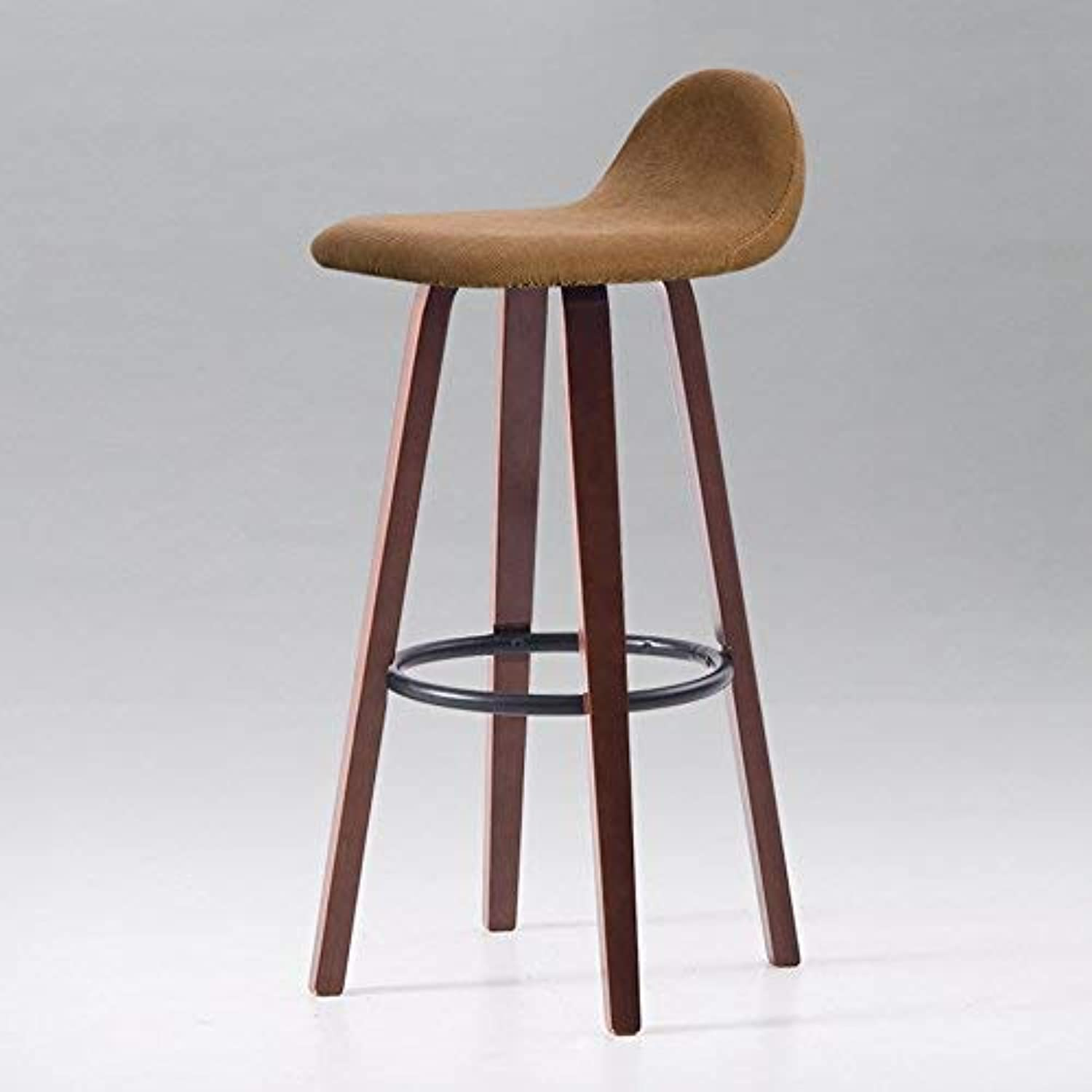 SED Chair Solid Wood High Stool Bar Chair Round Stool Retro Solid ...
