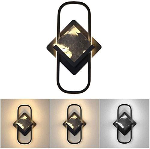 Dingygj Dimbare LED-verlichtings-lamp-ruimte modern 20 W ringlicht Black Wall creatieve wandlamp metaal acryl wandversiering veren lounge verlichting studie L18 × H23 cm