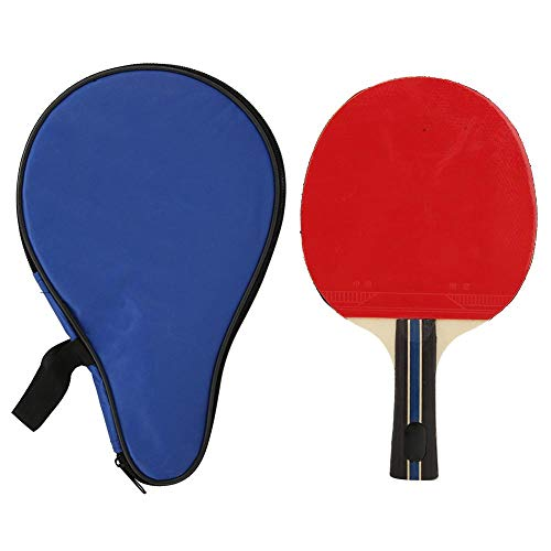 Buy Bargain Table Tennis Bats, Adult Teenager Single Shake-Hand Table Tennis Bats Table Tennis Racket Ping Pong Paddle Table Tennis Bats Racket Training Practicing with Storage Bag(8018 Red Bag)