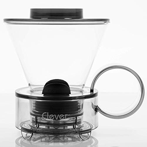 NEW Clever Coffee Dripper, Glass Style Coffee Maker Hassle-Free Ways Make Manual Pour Over Coffee & Cold Brew, 18 Fl Oz.