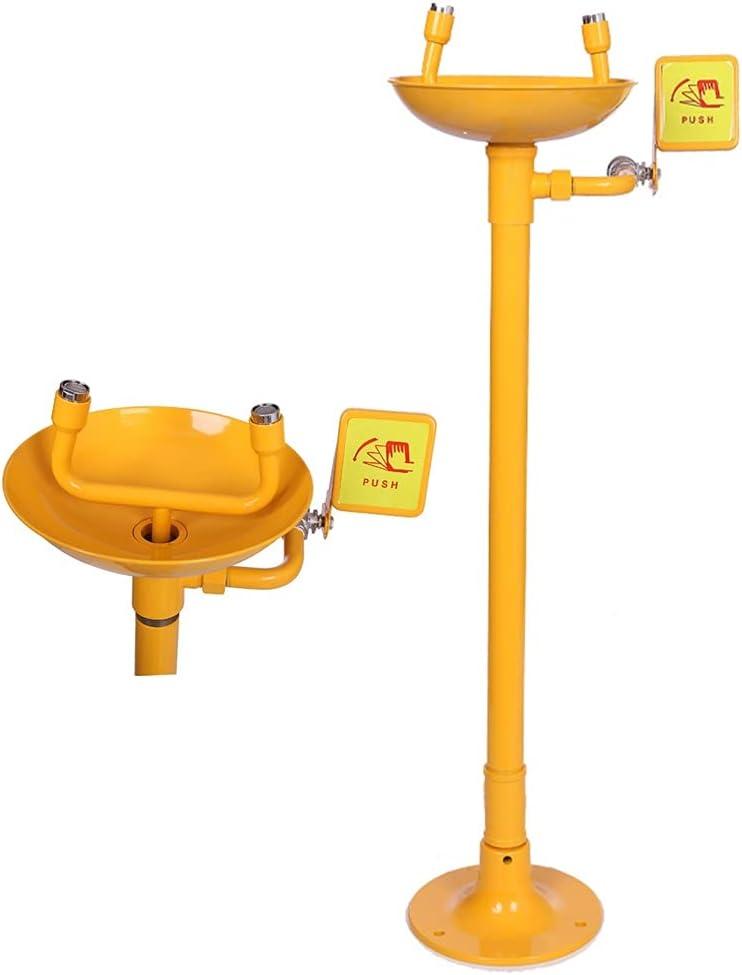 BBGS ABS Recubrimiento Acero Inoxidable Lavadora de Ojos, Emergencia Vertical Boca Doble Dispositivo de Lavado de Ojos de Laboratorio Taller de La Fábrica Equipo Lavaojos
