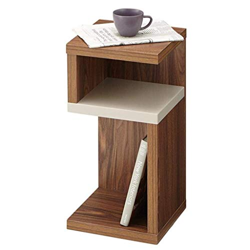 Side Tables,Tables Small Side Coffee Table In Lht Finish   Solid Wooden Slim Occasional/Lamp/End/Console/Bedside Stand,Brown,28 * 28 * 56cm