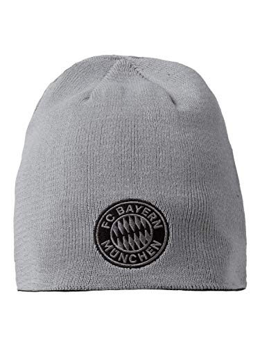 FC Bayern München Wende-Beanie schwarz/grau