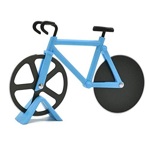 LHK Tagliapizza Bicicletta, Doppie Ruote Taglio, Gadget Cucina affettatrice Acciaio Inossidabile Antiaderente Supporto, per Regalo inaugurazione delle Vacanze Le Vacanze