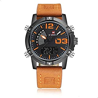 Naviforce Sport Watch For Men Analog-Digital Leather - NF9095-OR