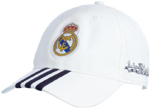 adidas Real 3S Cap - Gorra de fútbol para Hombre - tamaño: OSFM, Color: Blanco/tintanobl