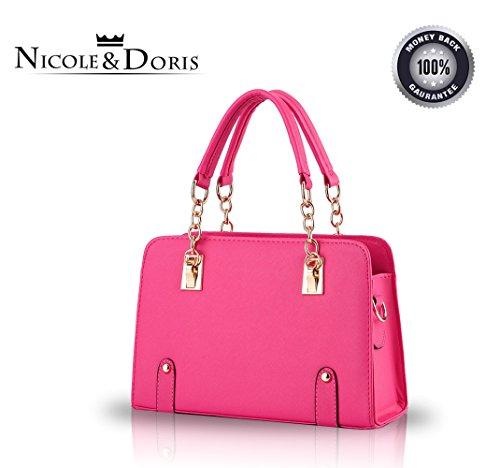 NICOLE&DORIS nuevas mujeres del bolso de hombro cadena de moda bolsa de mensajero del monedero