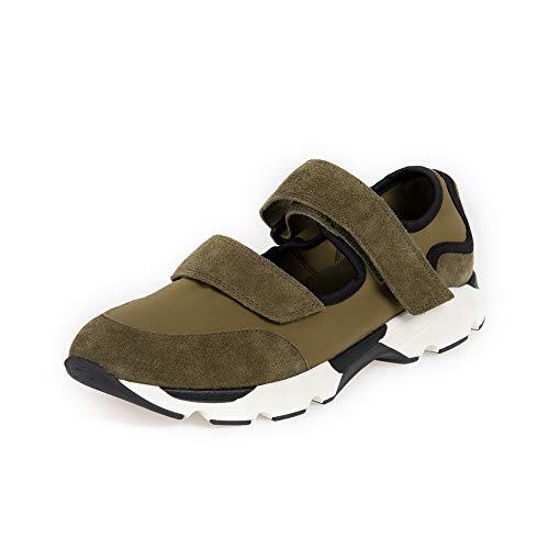 Winsden Original Casual Fashion Chunky Sneakers Comfort Schuhe Damen Mädchen, Grn (Armee-grün), 40 EU