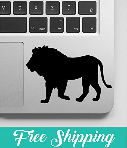 Lion Silhouette Decal, Lion Silhouette Sticker, Laptop Sticker And Decal, Macbook Decal, Car Decal, Vinyl Decal - 8 Inches At Longest End - 2 Pack