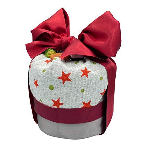 人気 おむつケーキ 女の子 男の子 パンパース ベビー ギフト 出産祝い 日本製 オムツケーキ (RED)
