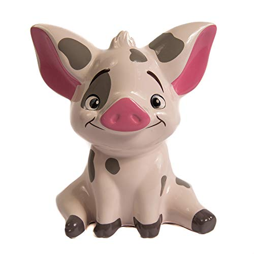 Moana Pua Pig Money Bank Figual Ceramic with Rubber Stopper