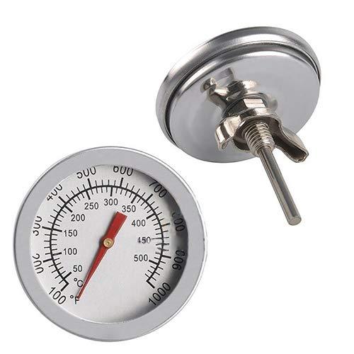 NAttnJf Termómetro para barbacoa, medidor de temperatura del termómetro de la parrilla del fumador de la barbacoa de acero inoxidable de 50 a 500 ℃