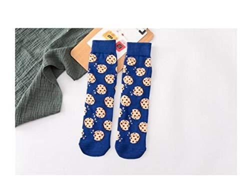 Pończochy, damskie skarpetki zabawne słodkie kreskówka owoce banan awokado cytryna jajko ciastko pączki jedzenie szczęśliwe japońskie harajuku skarpetki deskorolkowe (kolor: 1, rozmiar: jeden rozmiar)