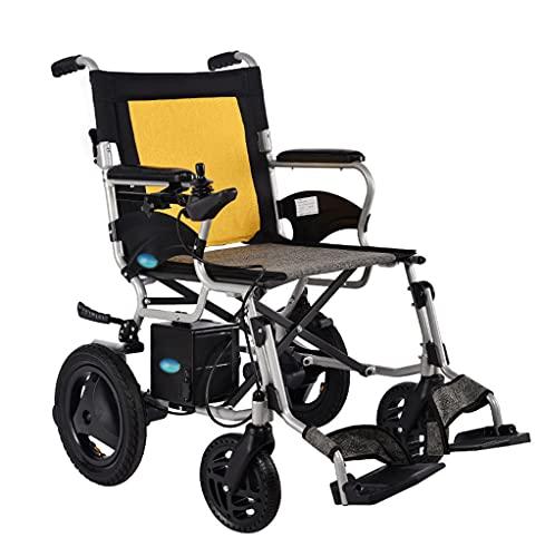ZYXU Elektro Rollstuhl Klapprollstuhl Elektrisch Leicht Zusammenklappbar Vollautomatischer Elektrischer Rollstuhl Faltbar - Elektrorollstuhl Li-Ion-Akku