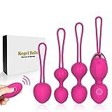 Kegel Balls en Silicone,Boules de Geisha Contrôle de la vessie,pour Exercices de Plancher Pelvien avec 10 Modes de Vibration,boules évolutives Accrue Avec Des Muscles Pelviens,imperméable