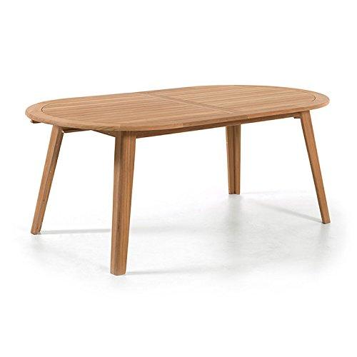 Table ovale en teck massif 200 x 110 cm Kork