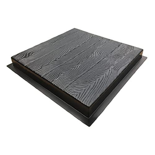 Imitación de grano de madera DIY Stepping Stone Mold Path Maker Pavimentación Cemento Ladrillo Molde Baldosa