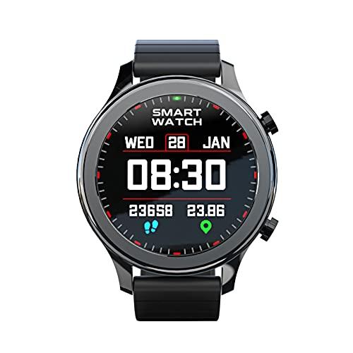 Montloxs Reloj Inteligente de 1,28' Reloj para teléfono Asistente de Voz IP67 Reloj Impermeable con Pantalla táctil Completa Rastreador de Ejercicios Reloj Deportivo multifunción Reloj