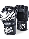 Phantom MMA Handschuhe Blackout | Hochwertige Profi Handschuhe für Kampfsport, Sparring, Sandsack, Pratzen, Boxen, Training, Freefight (S/M)
