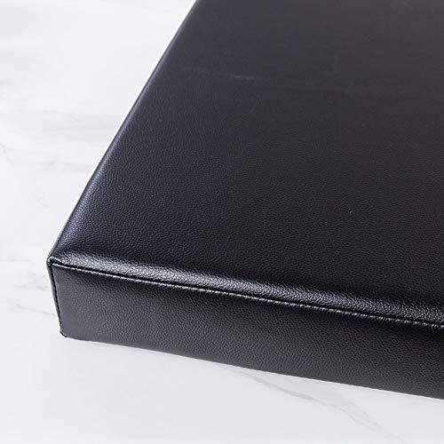RUYII Sitzkissen PU Kunstlederkissen Küche Esszimmer Sitzkissen Fenstersitz Pad,Black-120×30×5cm